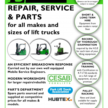 Hire, Service, Repair, Certification and Training – Lektro Mechanical Handling do it all